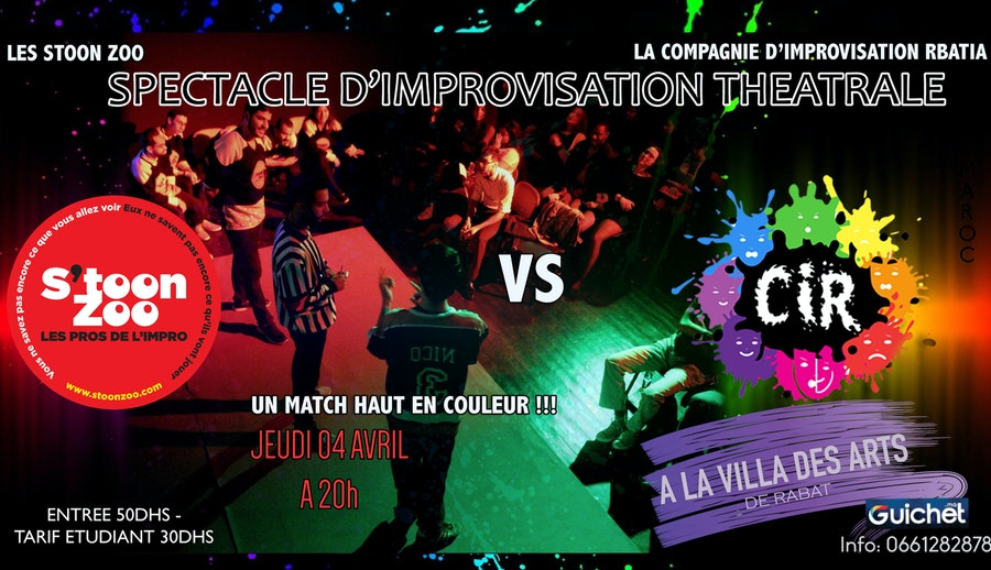 Match d'Improvisation Théâtrale : La CIR vs S'toon Zoo