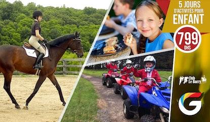 5 Jours de divertissement et d'activités ludiques et amusantes pour votre enfant avec ateliers, déjeuner et goûter