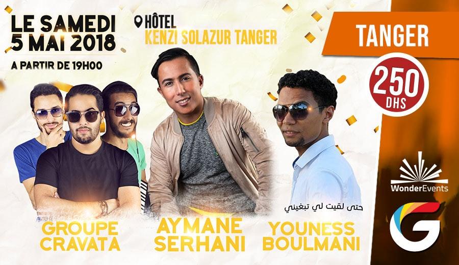 Soirée musicale spéciale avec AYMANE SERHANI, YOUNES BOULMANI, GROUPE CRAVATA et d'autres artistes surprise à l'hôtel Kenzi Solazur Tanger