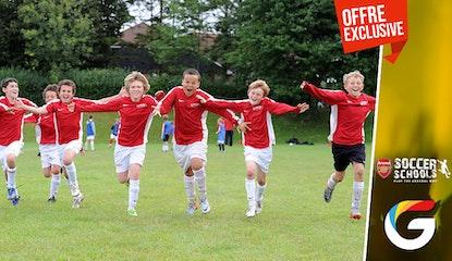Une séance d'entrainement pour enfant chez Arsenal Soccer School !