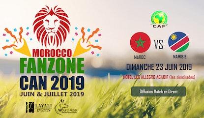 Morocco FanZone Can 2019 - Maroc vs Namibie