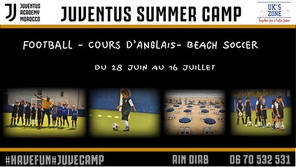 STAGE DE FOOTBALL & ANGLAIS FRONT DE MER AU PARADISE CLUB !