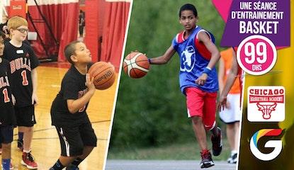 Séance d'entrainement de  basket d'une durée de 1H30 pour votre enfant !