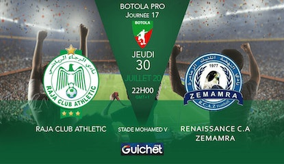 Raja Club Athletic VS Renaissance C.A Zemamra