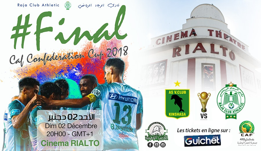 La finale de la CAF : RAJA CLUB ATHLETIC vs AS VITA CLUB