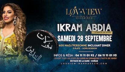 Ikram Abdia au Lov-view Marrakech