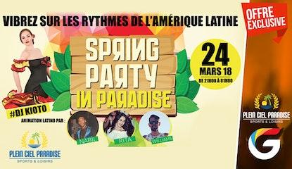 Soirée Salsa : Spring Party  au Plein Ciel Paradise ! Un dîner délicieux ( entrée + plat + dessert ) et Animation