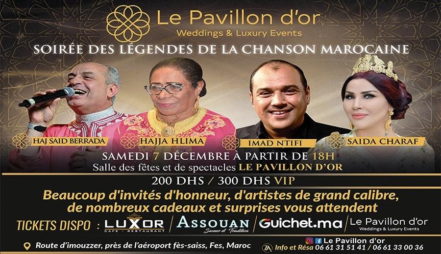 Soirée des légendes de la chanson Marocaine