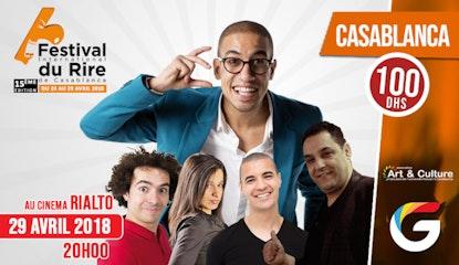 FESTIVAL INTERNATIONAL DU RIRE CASABLANCA : Yassar  avec les Guest-Stars et Rachidi Magicien illusionniste