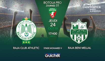 Raja Club Athletic VS Raja Beni Mellal