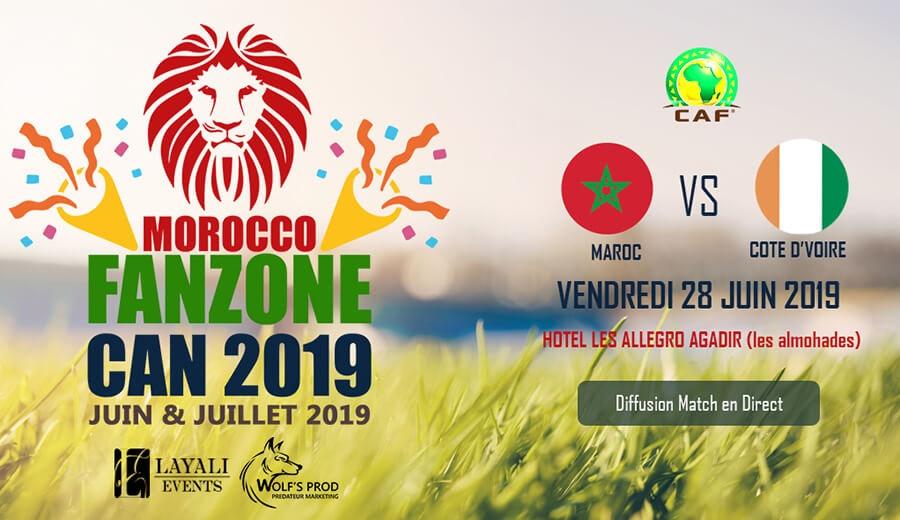 Morocco FanZone Can 2019 - Maroc vs Cote d'Ivoire