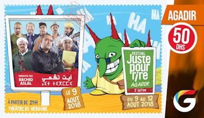 FESTIVAL JUSTE POUR RIRE AGADIR : Ait Tgami !Présenté par Rachid ASLAL