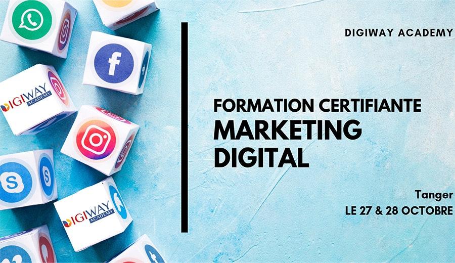 Formation Certifiante en Marketing Digital - Session Tanger