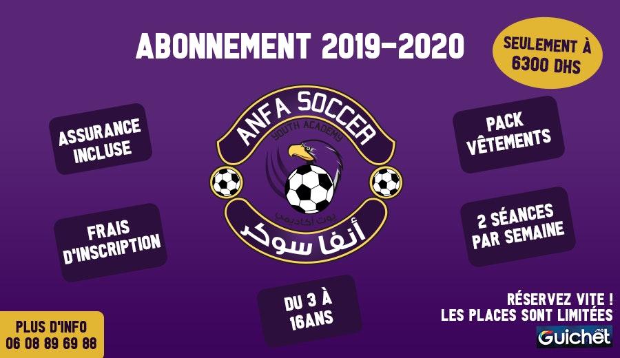 Abonnement Anfa Soccer 2019-2020