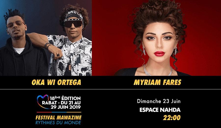 Festival Mawazine - Oka Wi Ortega & Myriam Fares