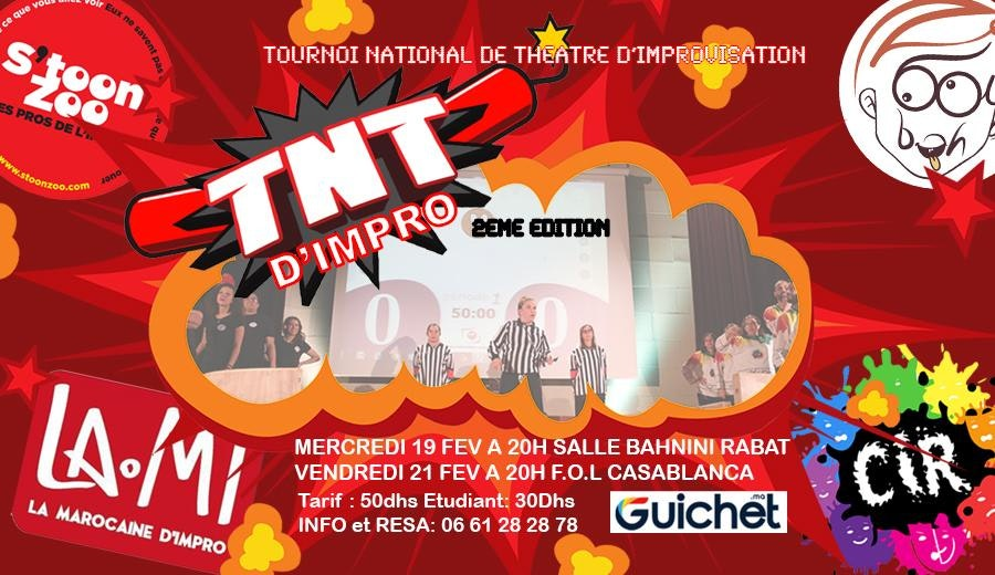 TNT d'Improvisation – Vendredi 21 Fév - CASABLANCA