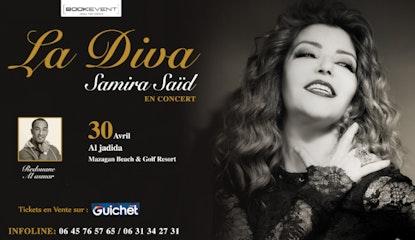 Samira Saïd en concert à Mazagan
