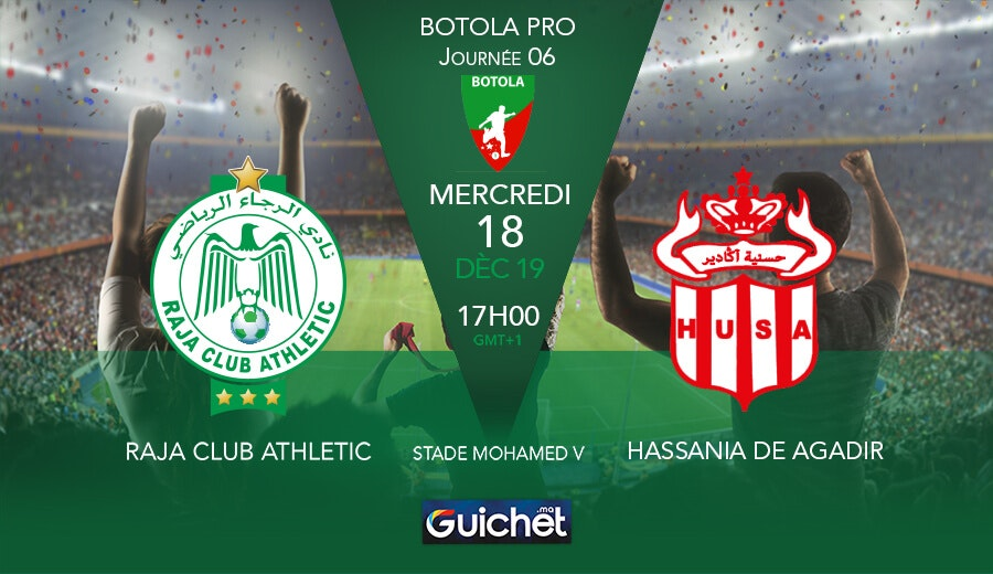 Raja Club Athletic VS Hassania De Agadir