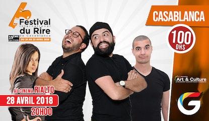 FESTIVAL INTERNATIONAL DU RIRE CASABLANCA : Les inqualifiables, Hakima Atrassi et Amin Dridi